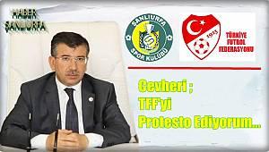 Cevheri ; TFF'yi Protesto Ediyorum...