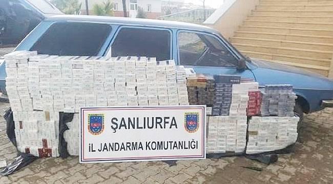 Akçakale'de 6 Bin Kaçak Sigara Ele Geçirildi