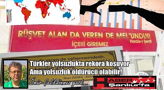 Türkler yolsuzlukta rekora koşuyor