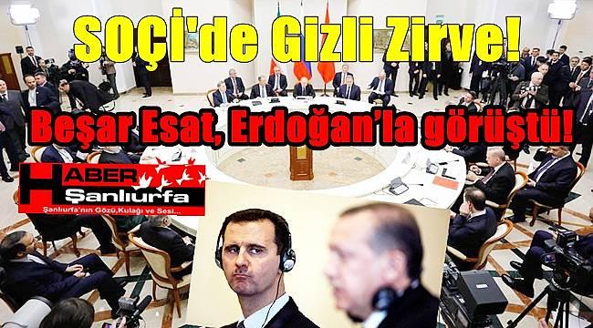 SOÇİ'de gizli zirve! / Beşar Esat, Cumhurbaşkanı Erdoğan'la görüştü!