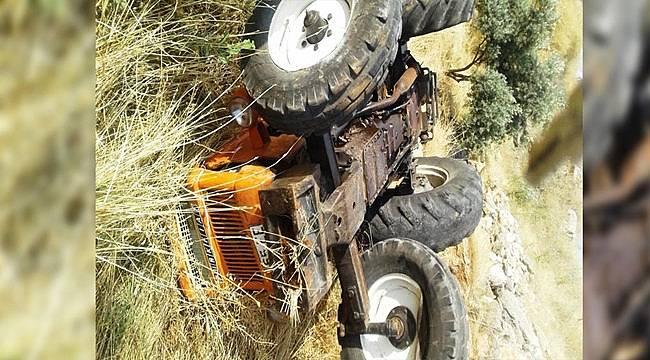 Siverek'de şarampole devrilen traktörün sürücüsü öldü