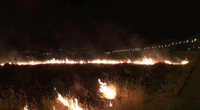 Karaköprü'de Yangın! Fıstık Bahçeleri Telef Oluyordu
