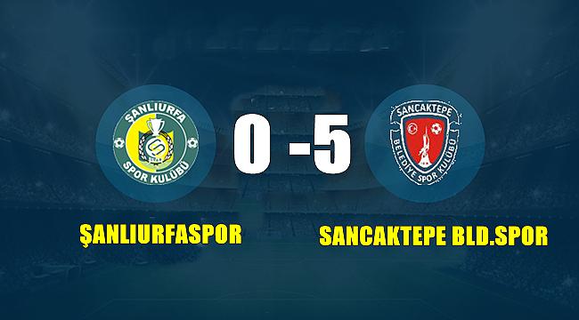 Şanlıurfaspor 0 : 5 Sancaktepe Belediye Spor