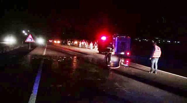 Siverek'te Otomobil Koyun Sürüsüne Çarptı : 2 Yaralı
