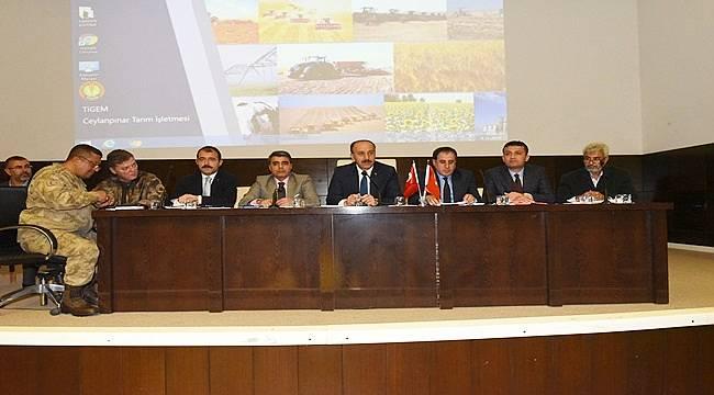 Ceylanpınar'da Suriye Konulu Toplantı Yapıldı