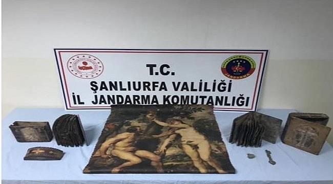 Şanlıurfa'da Tarihi Eser Kaçakçılığına operasyon