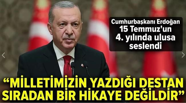 Cumhurbaşkanı Erdoğan, 15 Temmuz'da Ulusa Seslendi