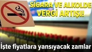 Sigara Ve Alkolde Vergi Artışı!