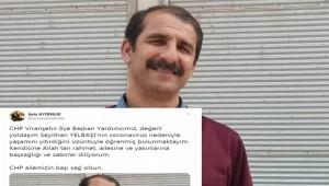 Viranşehir İlçe Başkan Yardımcısı Koronavirüsten Hayatını Kaybetti