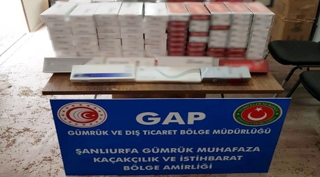 Ceylanpınar'da 37 bin 500 Paket Kaçak Sigara Ele Geçirildi