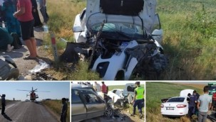 Siverek'li Tarım İşçilerini Taşıyan Araç Ankara'da Kaza Yaptı : 3'ü ağır 9 yaralı