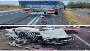 Birecik Suruç Otoyolunda Kaza 2 Ölü 1 Yaralı