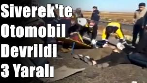 Siverek'te Otomobil Devrildi : 3 Yaralı