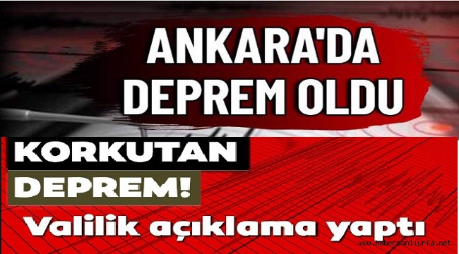 Ankara'da 4,5 Deprem Paniği