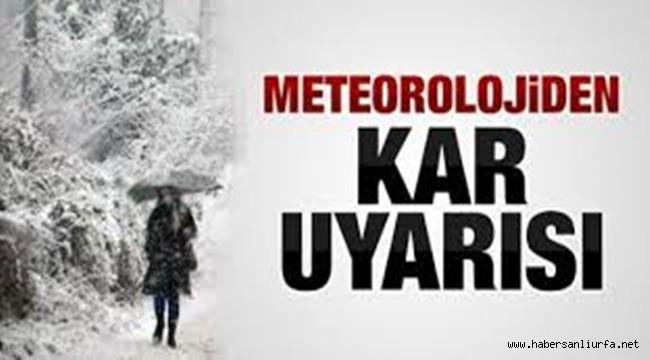 Şanlıurfa'da Kar Yağışı Bekleniyor