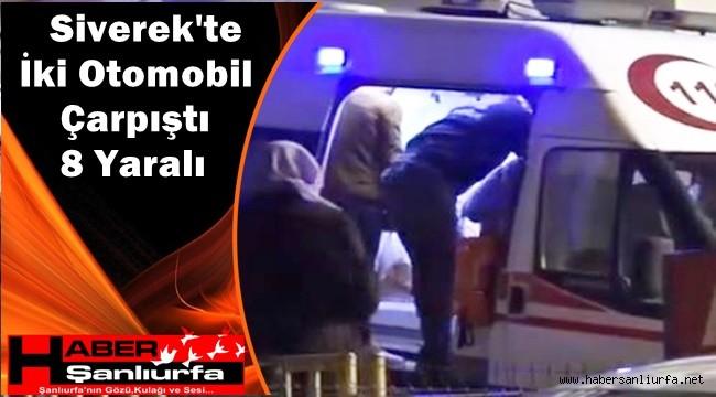 Siverek'te İki Otomobil Çarpıştı: 8 Yaralı