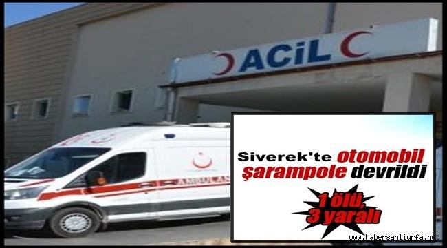 Siverek'te Otomobil Şarampole Devrildi: 1 Ölü, 3 Yaralı