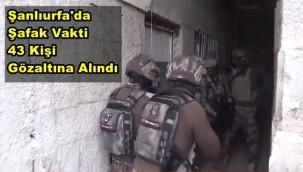 Şanlıurfa'da Şafak Vakti 43 Kişi Gözaltına Alındı