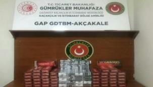 Akçakale'de Bin 250 Paket Kaçak Sigara Ele Geçirildi