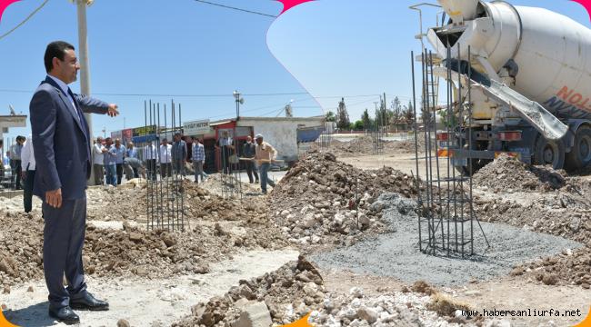 Harran'da Çarşı Projesinin Temeli Atıldı
