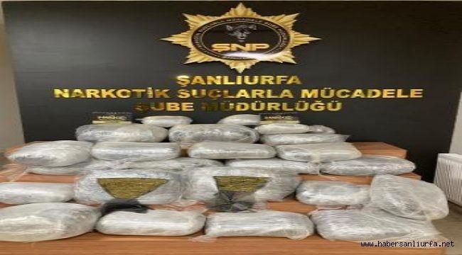 Urfa'da Narkotik Timleri 125 kilo Esrar Ele Geçirdi