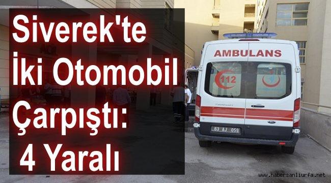 Siverek'te İki Otomobil Çarpıştı: 4 Yaralı