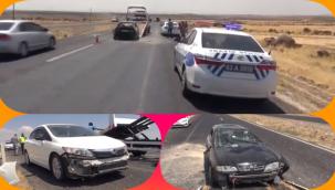 Siverek'te Otomobil Kontrolden Çıktı: 4 Yaralı