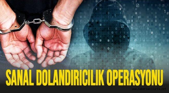 Şanlıurfa'da Sanal Dolandırıcılık Çetesine Operasyon : 33 Gözaltı